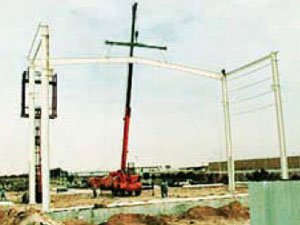 ERECTION OF RAFTER & COLUMNS